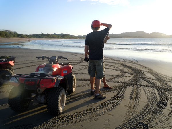 ATV on beach near Tamarindo