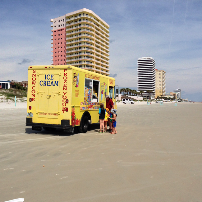 ice cream truck - Daytona Beach, Florida