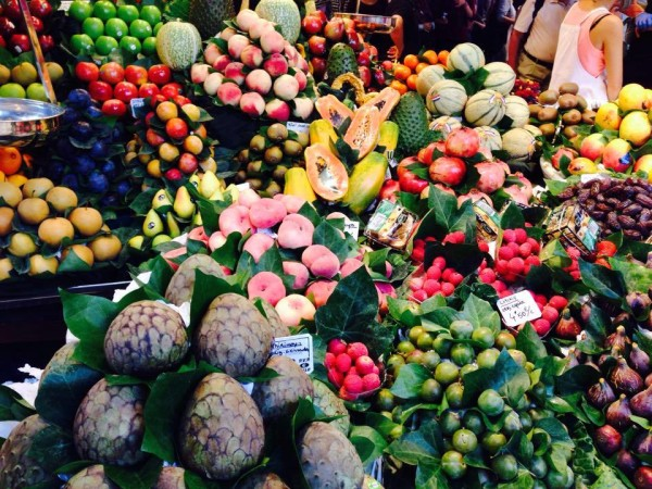 Amazing fruits at La Boqueria
