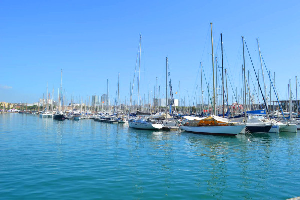 Port Vell in Barcelona, Spain