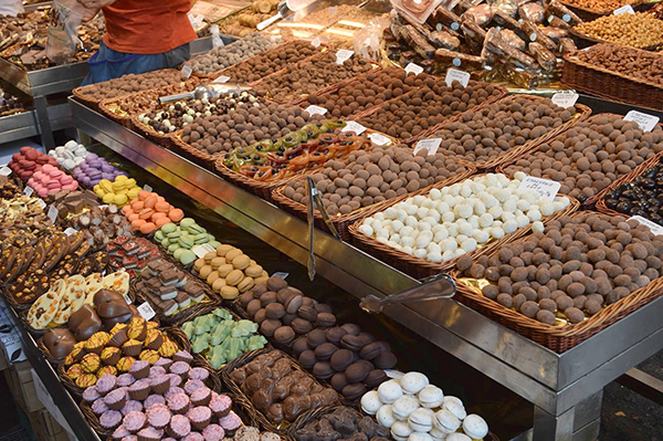 Candies and more at La Boqueria