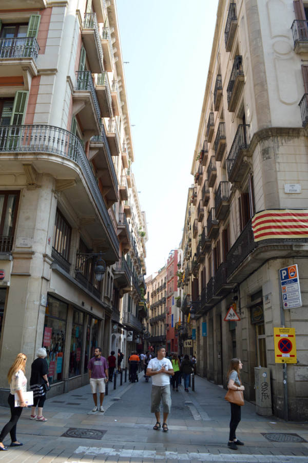 Gothic Quarter street in Barcelona