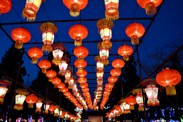 Red Lanterns at the Chinese Lantern Festival
