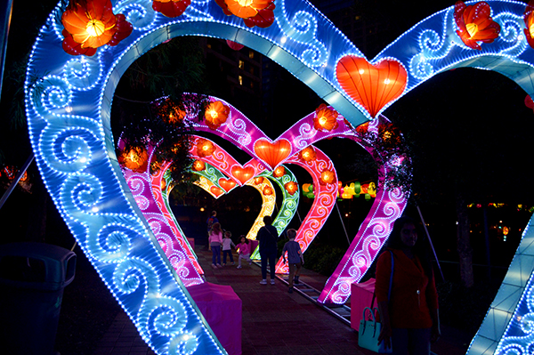 Heart Walkway at the Chinese Lantern Festival