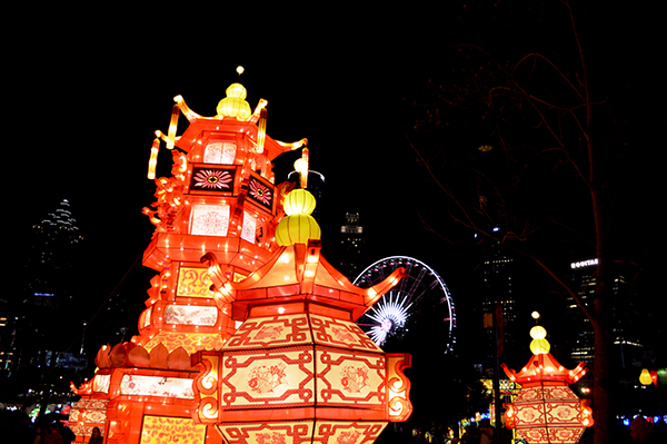 Large Red Lanterns at Chinese Lantern Festival